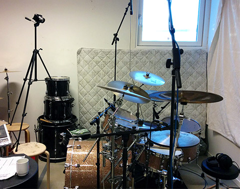 Big Drum Bonanza 2015 - Heines indspilnings setup