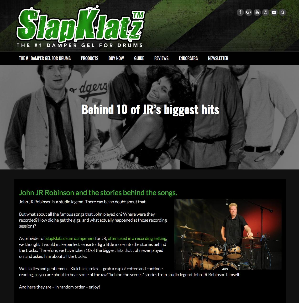 JR artikel på SlapKlatz.com